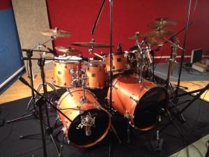 batteria ettore in studio